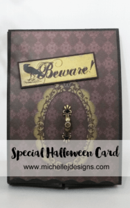 Halloween Card Gift - www.michellejdesigns.com - I love this fun design and it truly makes this Halloween Card into a gift.