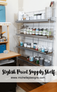 Paint-Storage-Space - www.michellejdesigns.com - How to create an extraordinary paint storage shelf that looks great in any space.