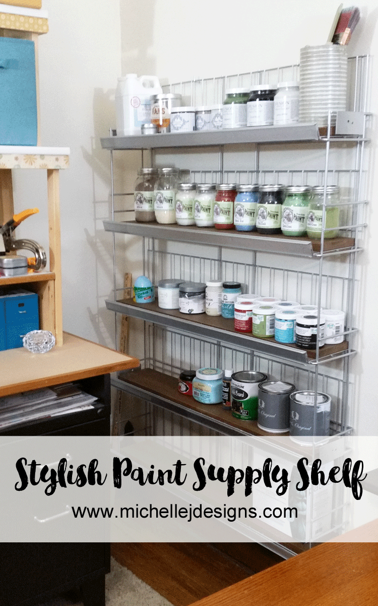 Paint-Storage-Shelf - www.michellejdesigns.com - How to create an extraordinary paint storage shelf that looks great in any space.