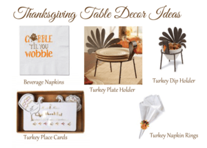 Thanksgiving-Table-Decor - www.michellejdesigns.com - Create a fun and festive table scape with these Thanksgiving Table Decor ideas