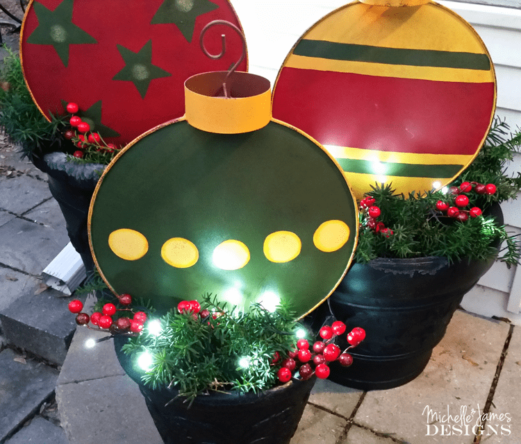 outdoor christmas decorations wwwmichellejdesignscom these large metal ornament stakes
