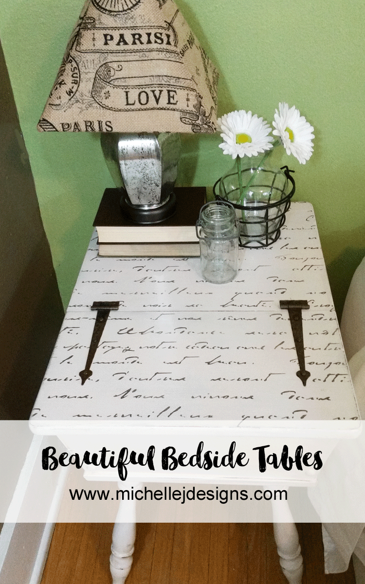 Make-Bedside-Tables-Beautiful-With-Vintage-Paint - www.michellejdesigns.com - These tables are beautiful once again with the help of paint from Vintage Market and Design.