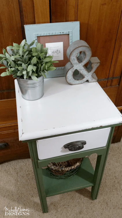 Tired Telephone Table - www.michellejdesigns.com - I transformed this tired telephone table into a beautiful piece of new found love with Fusion Mineral Paint.