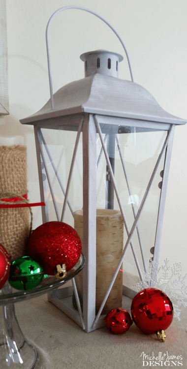 Create Easy Holiday Decor With Lanterns and Pillows - www.michellejdesigns.com - I love how easy it was to decorate this year using the lanterns and pillows I got from Oriental Trading. (Sponsored)