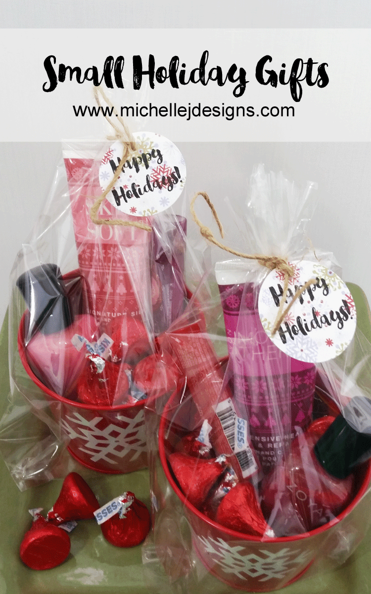 Small Gifts for Co-Workers - www.michellejdesigns.com - Create great packaging for small gifts for co-workers with Oriental Trading! (sponsored)