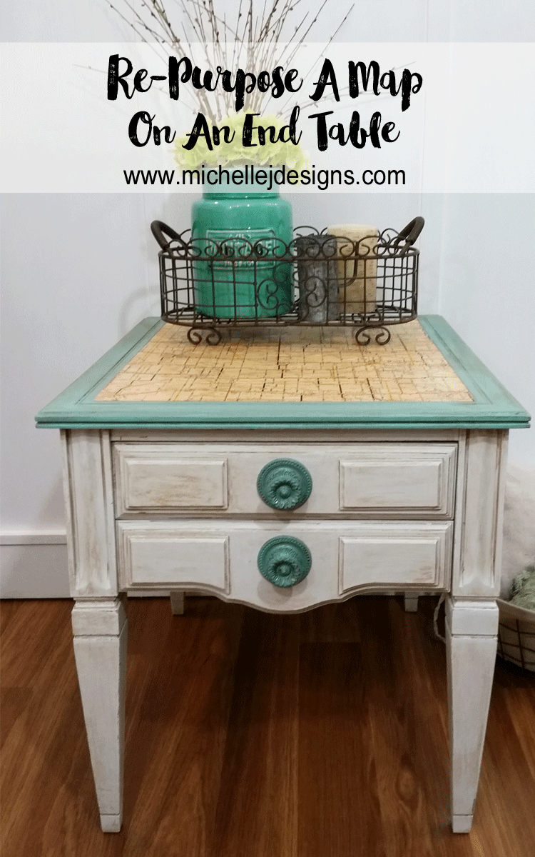 how-to-use-an-old-map-for-a-stunning-end-table