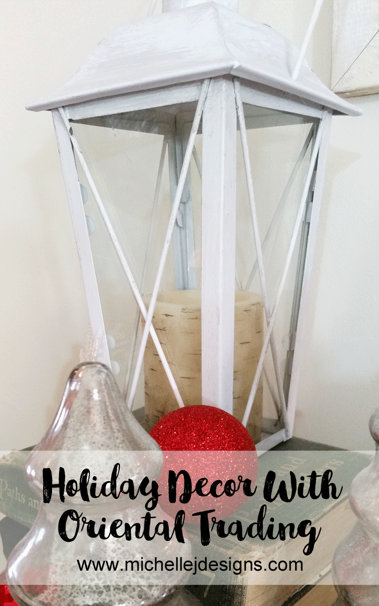 Create Easy Holiday Decor With Lanterns and Pillows - www.michellejdesigns.com - I love how easy it was to decorate this year using the lanterns and pillows I got from Oriental Trading. (Sponsored