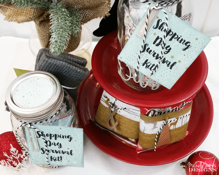 I created the perfect shopping day survival kit for my mom and my friend Kathy.