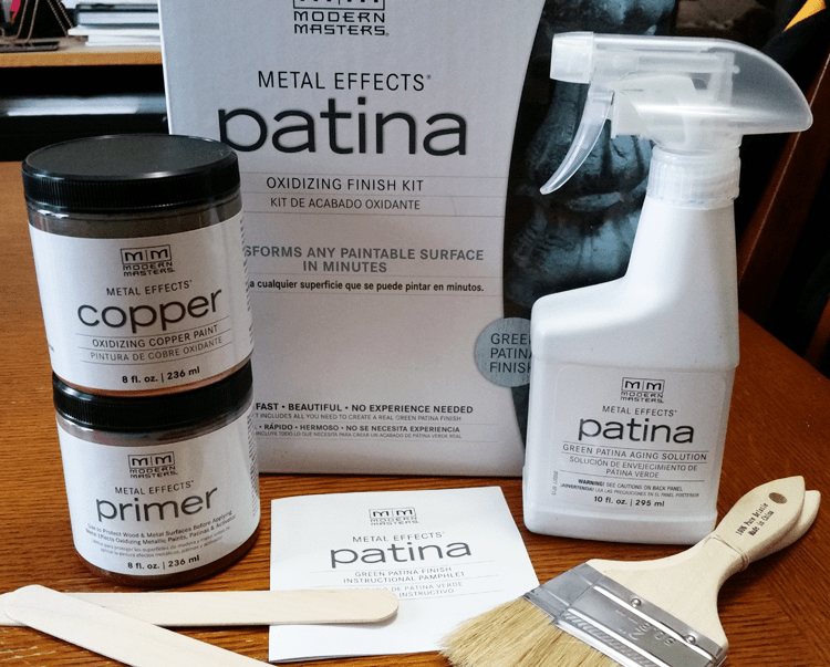 Easy, Fast Patina Kit - www.michellejdesigns.com - Create a Patina effect in just a few simple steps using the Patina Kit from Modern Masters
