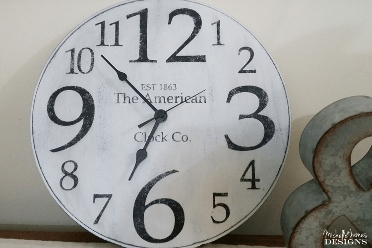 I found a hideous clock at the thrift store. It is fun to update an old clock and make it look spectacular!