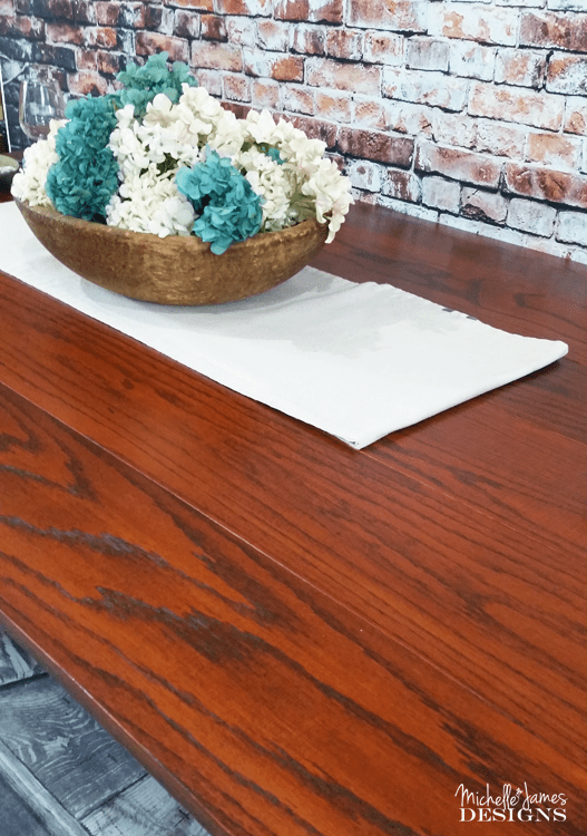 This DIY Dining Table Was Made With An Oak Top And A Painted Base And Was