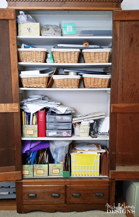 Take a look at how I am organizing craft supplies in my craft room. Now everything has a place and is easy to find when I need it.