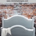 I used my Finishmax HomeRight paint sprayer to complete a makeover on this farmhouse style bed. It made quick work of the painting and let me finish this furniture DIY quickly and easily.