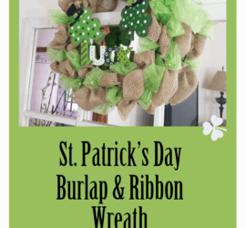 I have always wanted to try to make a burlap wreath. I needed something for St. Patrick's Day so I did it! I couldn't be happier with the way it turned out. What a great DIY decor project.