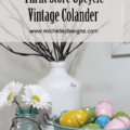I gave this thrift store vintage colander a new look with teal spray paint. Now it is the perfect look for my home decor! www.michellejdesigns.com