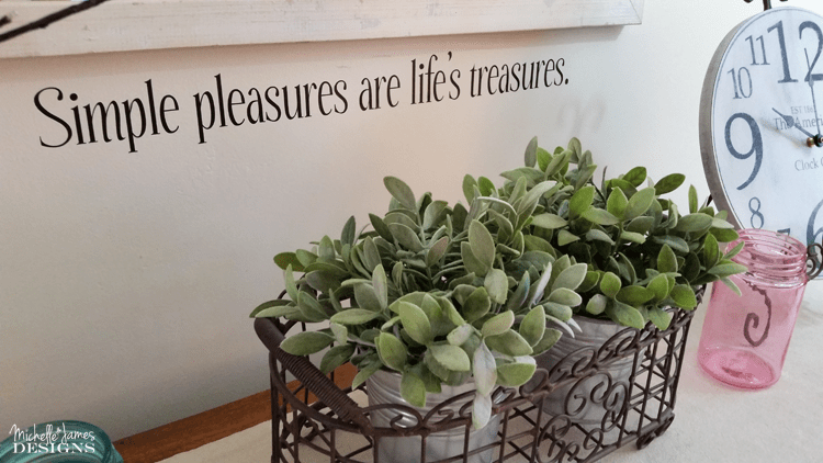 Add whimsy and class to any wall using vinyl stencils. This was easy to apply and is removable when you are ready to take it down. DIY home decor has never been easier. - www.michellejdesigns.com