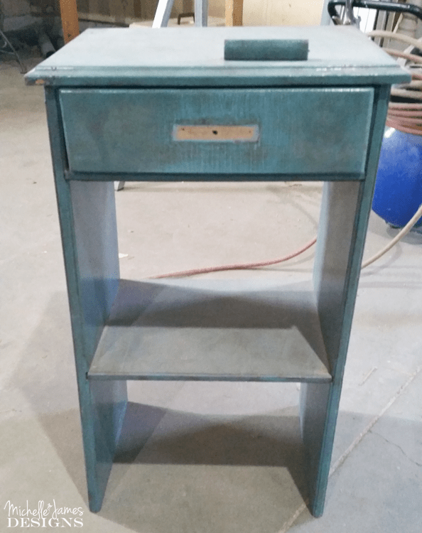This little rickety accent table was transformed and re-styled using pieces of free tile samples.
