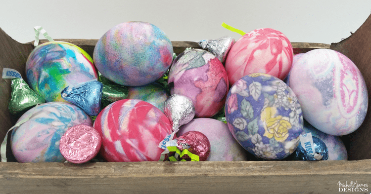 Dyed Eggs are not usually my thing but this amazing way of using silk ties to color the eggs is brilliant! www.michellejdesigns.com