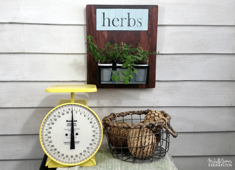 I have always wanted an herb garden. I am not sure it will grow in my light but I am going to try. This upcycled, small herb garden is perfect. www.michellejdesigns.com