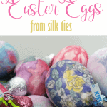 Pretty dyed Easter eggs using silk ties!