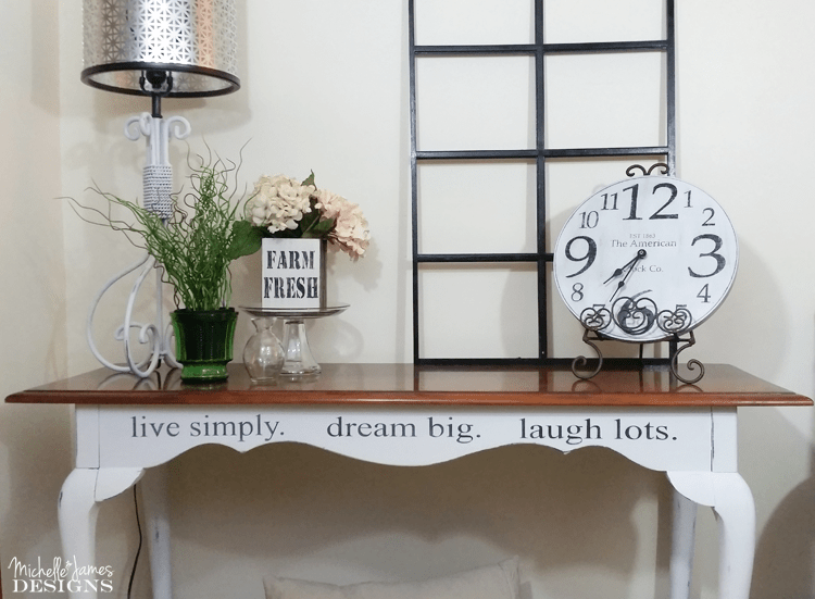 Creating your own stencils and using them to update your furniture is a budget friendly way to create a whole new look you will love! www.michellejdesigns.com