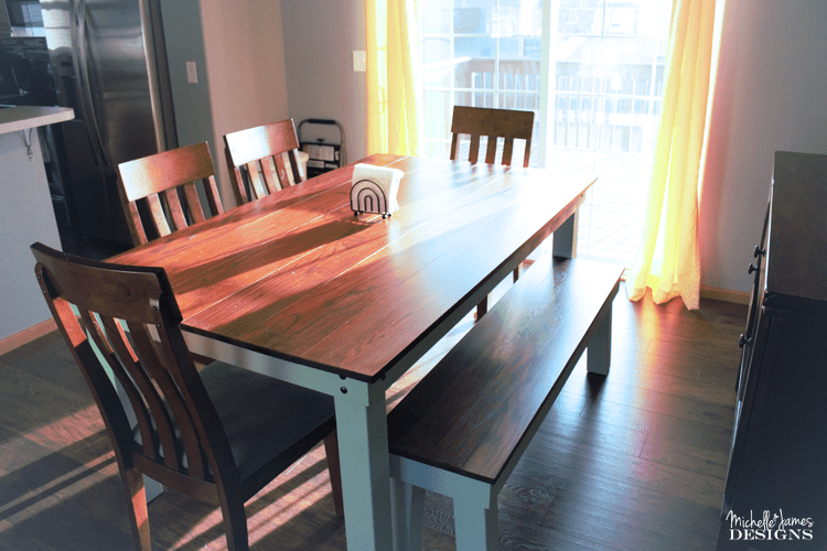 We made a dining room bench to match the dining table we built for our son. How To Create A Stunning Dining Room Bench   To Go