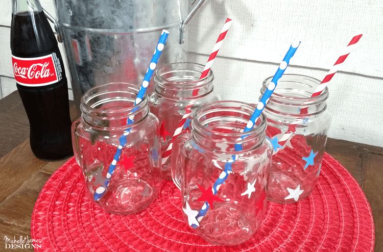 Jazz up some dollar store drink ware into the perfect patriotic glasses using Sharpie markers! www.michellejdesigns.com
