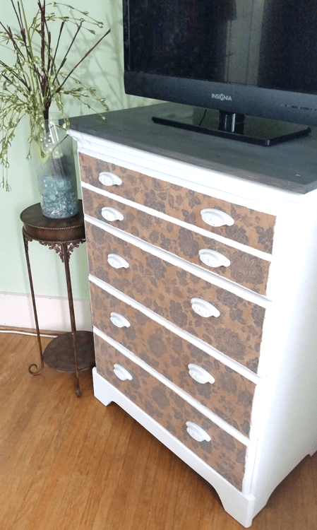 Mod-Podge-Dresser-Update www.michellejdesigns.com