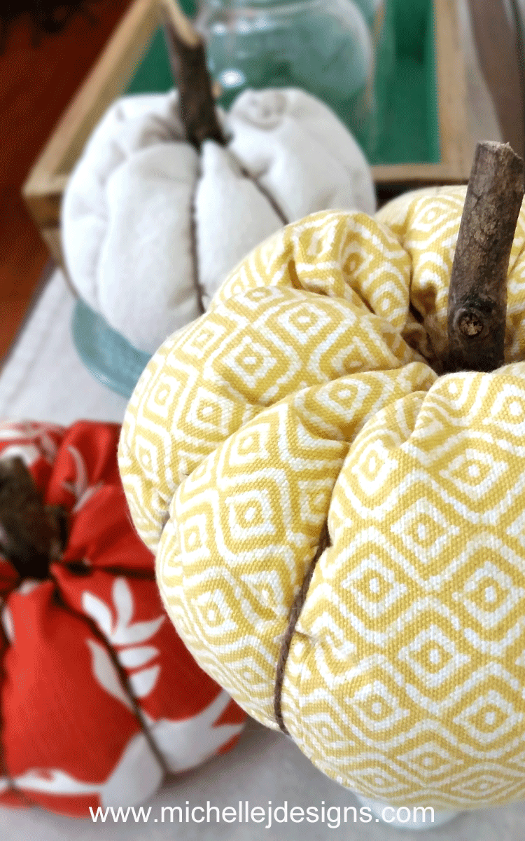 I love pumpkins. I decided to make DIY fabric pumpkins this year to ease into my fall decor!