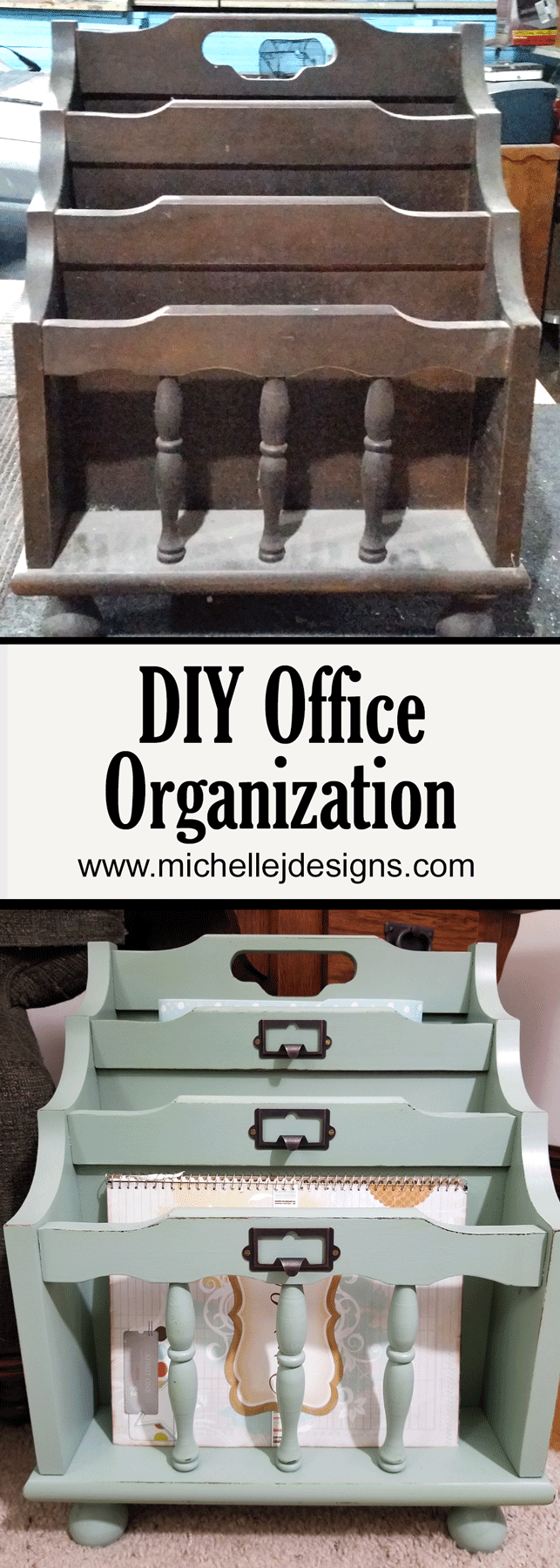 Office organization that is portable and ready to pick up and move where you are is awesome. I spend a lot of time working on the sofa so to have a DIY office organization station next to me is perfect! - www.michellejdesigns.com