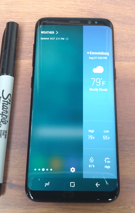 #ad I love my new Samsung Galaxy GS8 phone. It is perfect for staying organized and connected at all times and gets me through my busy life without losing my mind! #SamsungUnlocked - www.michelledesigns.com