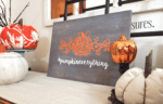 Easy Fall Wooden Sign Using Silhouette Cameo and DecorArt