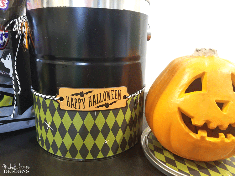 Make someone's Halloween special and BOO It Forward with a fun bucket full of surprises! - www.michelledjdesigns.com