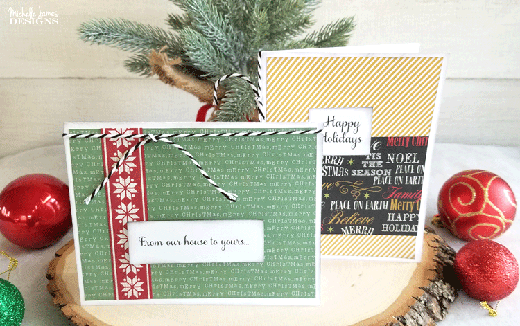 Everyone is busy during the holidays but it doesn't mean you can't make handmade holiday cards for your friends and family. Create simple, easy cards in a few minutes! www.michellejdesigns.com