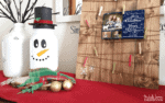DIY Holiday Snowman Mason Jar Craft