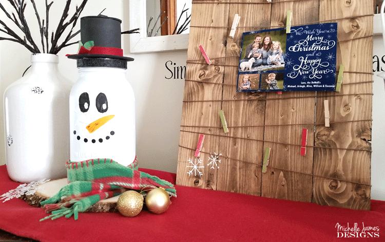 DIY Holiday Snowman Mason Jar Craft