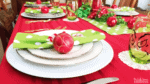 Grinch Inspired Christmas Table Setting