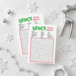 Grinch Inspired Word Search Game