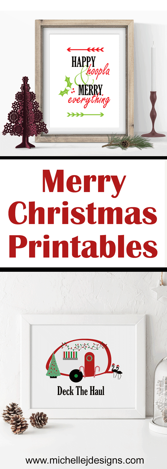 I created one of these Christmas Printables for my camping friend. The other is for the rest of us! - www.michellejdesigns.com