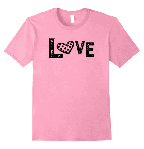 Valentine inspired t shirts are super fun to wear in February but these don't have to be limited to just Valentine's Day. You can wear these all year round.