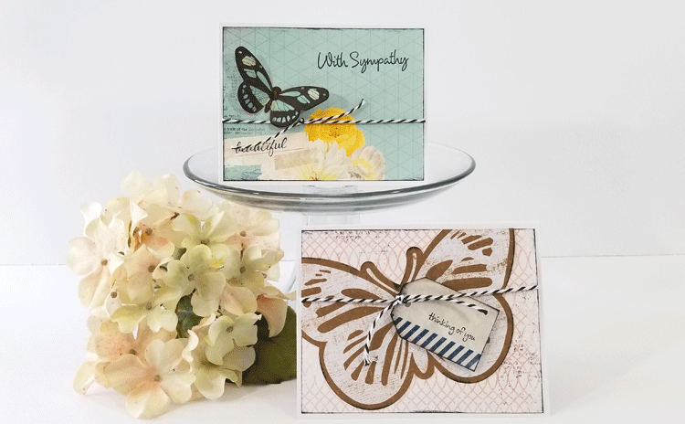 These handmade sympathy cards and thinking of you cards are beautiful and easy to make! - www.michellejdesigns.com
