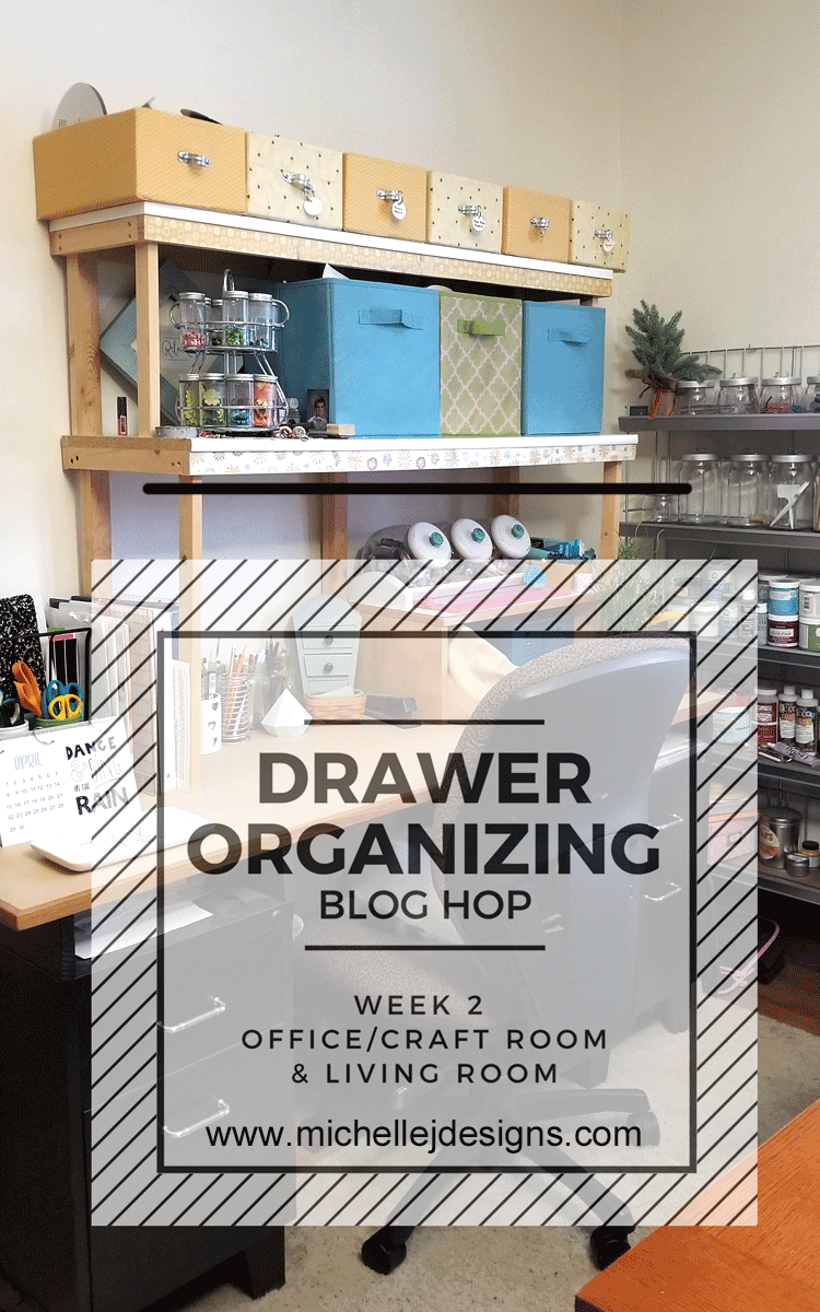 I attempted to do a little craft room organizing starting with a drawer and my desk top #craftroomorganization #organize #craftroom -www.michellejdesigns.com