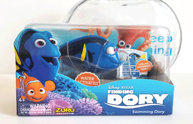 This inspiring Dory fishbowl keeps us going at work. We 'just keep swimming