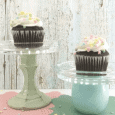 I love these individual glass cupcake stands. Keep reading to find out exactly how easy they are!- www.michellejdesigns.com