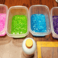 Making slime was fun and I am showing you how to make your own mermaid and rainbow slime! - www.michellejdesigns.com