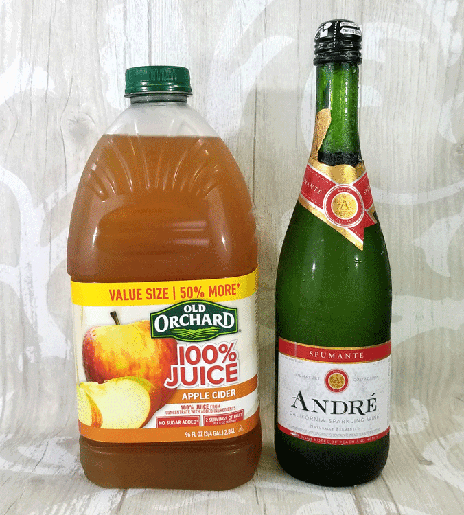 This easy fall apple cider mimosa recipe is the perfect drink for a fall brunch! With only 2 easy to find ingredients you will make it again and again! www.michellejdesigns.com - #michellejdesigns #applecidermimosa #fallcocktail #falldrinks #applecidercocktail