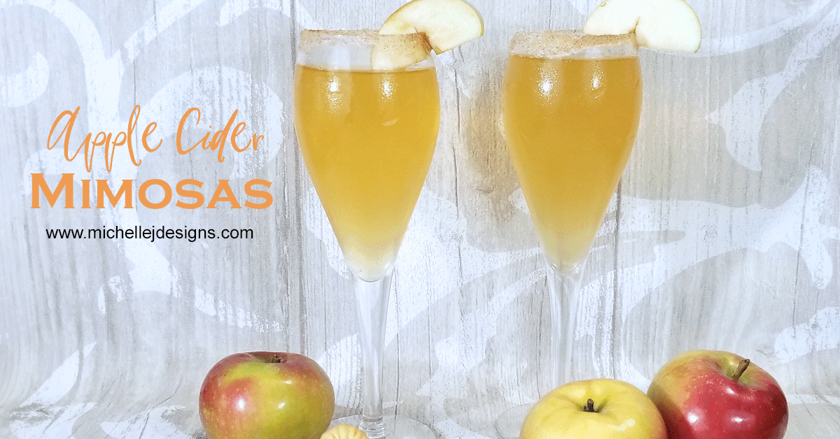 Easy Fall Apple Cider Mimosa Recipe