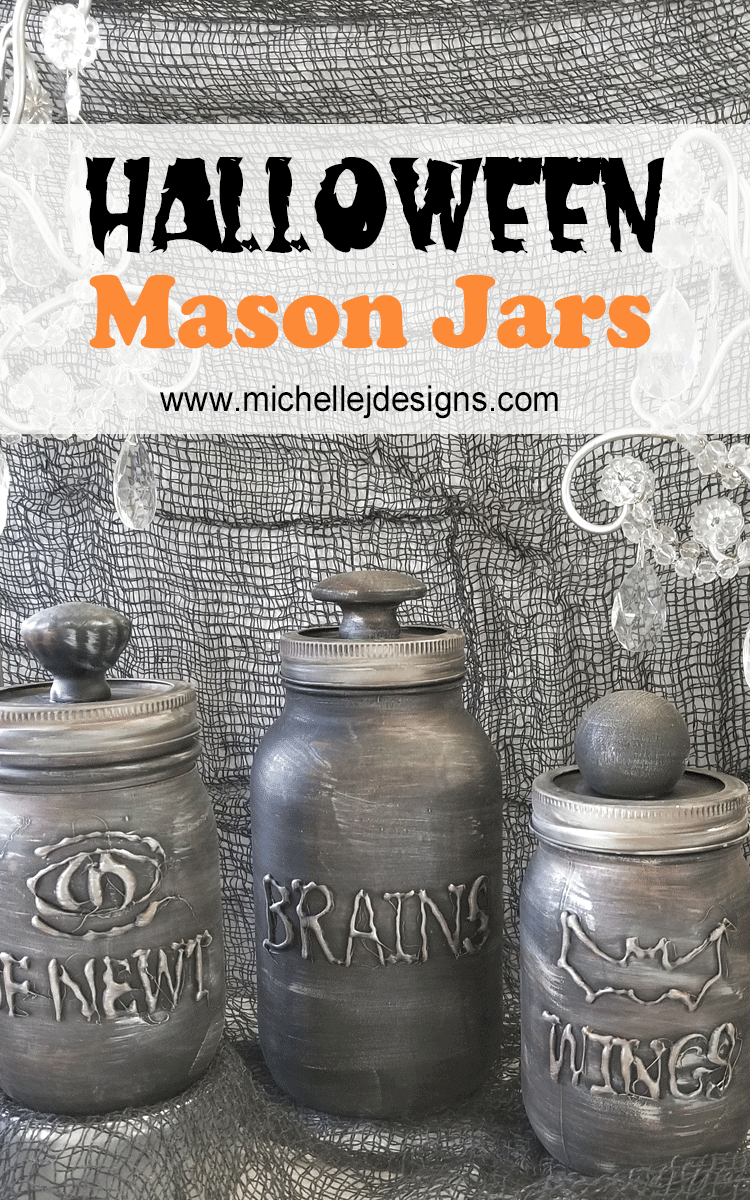Halloween is a great time of year for decorating. These Halloween Mason Jars look so good and are really fun to make! #halloween #halloweendecor #masonjars - www.michellejdesigns.com