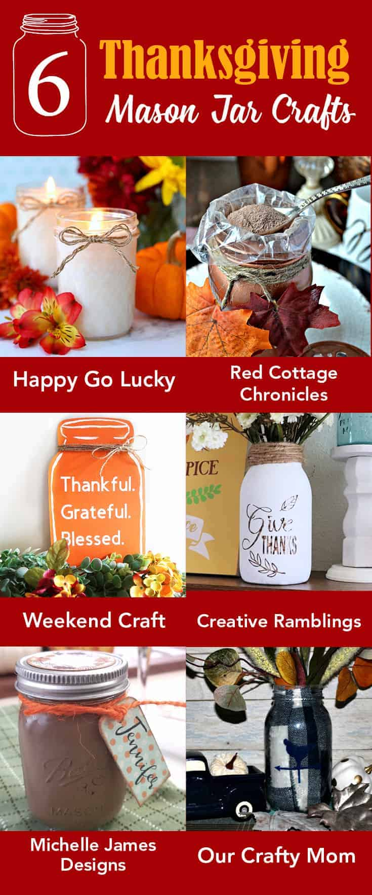 These are the perfect mini mason jar party favors. I made them for our Thanksgiving dinner but they would be fun at any special occasion. - www.michellejdesigns.com #michellejdesigns #partyfavors #masonjars #masonjargifts