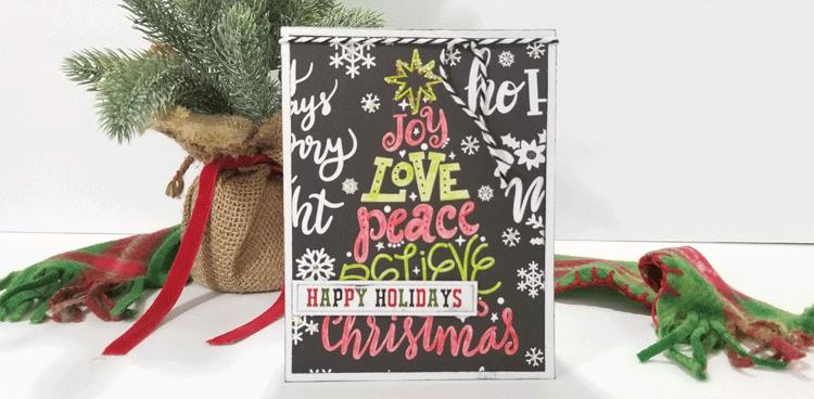 How To Create A Handmade Colored Christmas Tree Card